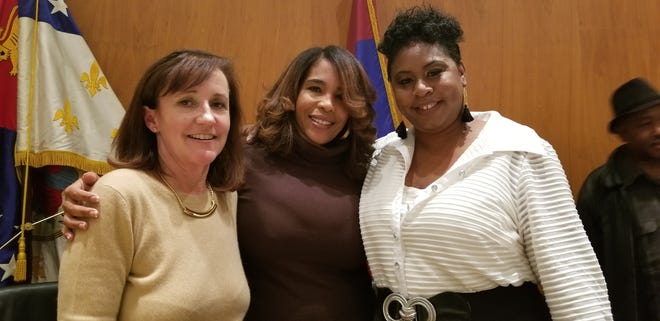 From left, Detroit charter commissioners Tracy Peters, Nicole Small and Joanna Underwood