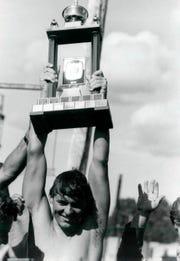 Paul Asmuth won won seven world professional marathon swimming titles.