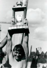 Paul Asmuth won won seven world professional marathon swimming titles.