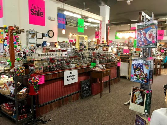 Creative Addictions in Conrad is going out of businesses. It's home to a candy counter, Montana gifts and everything a artist or crafter could need.