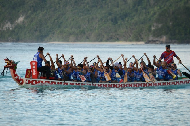 Action from the 3rd Annual Guam Dragon Boat Festival held Nov. 17-18 at Matapang Beach Park in Tumon.