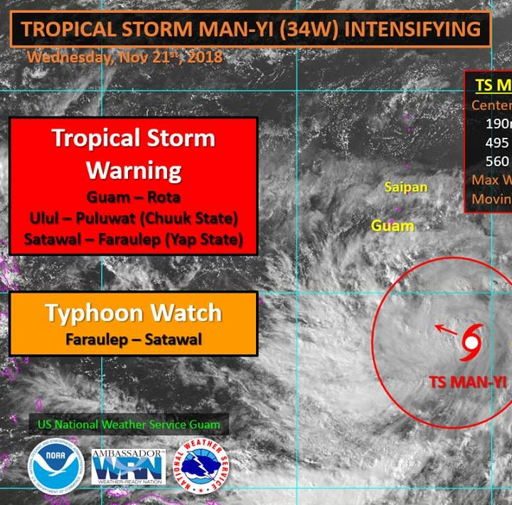 Guam in COR 2, high winds expected in morning