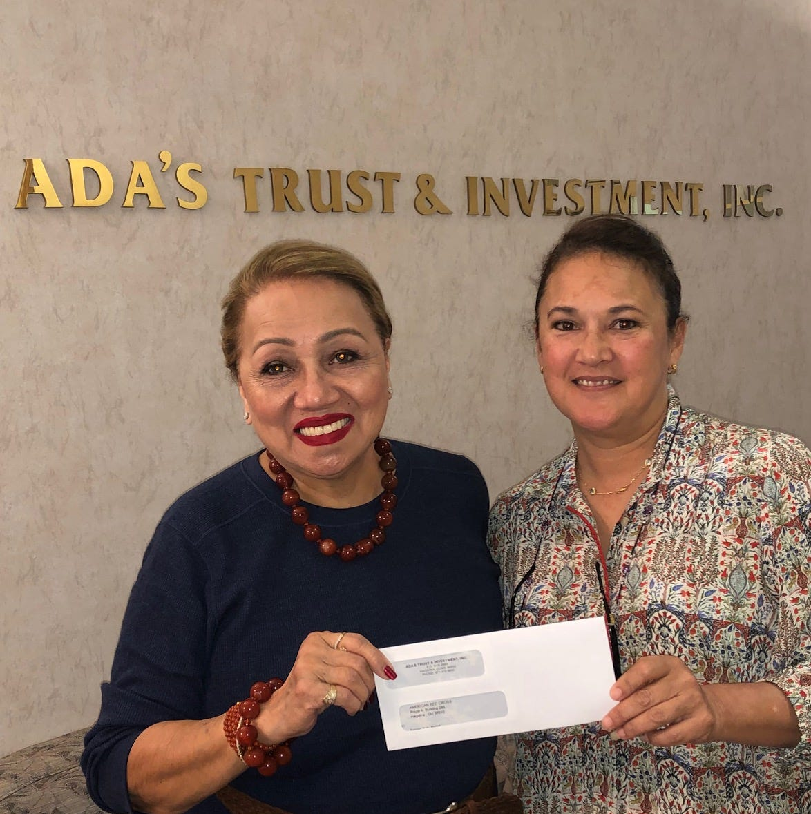 Ada's Trust and Investment donates $10,000 to assist the victims of Super Typhoon Yutu