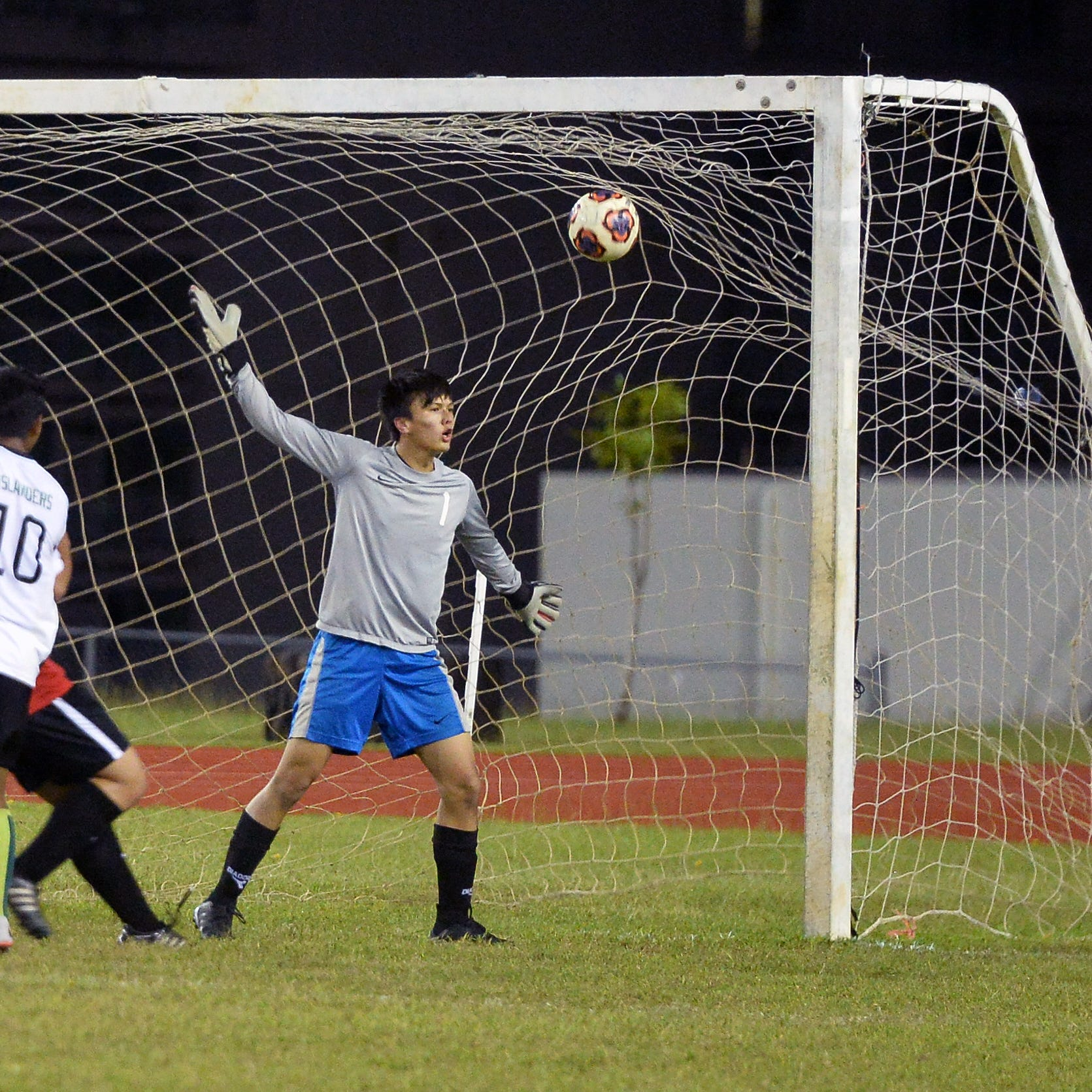 Islanders beat Knights 4-1, still perfect in boys soccer