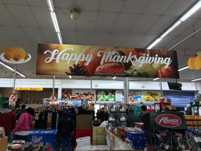 Saraga International Grocery in Indianapolis, pictured on Nov. 21, is ready for Thanksgiving.