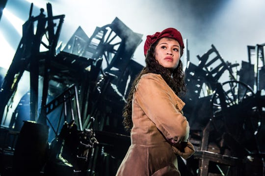 """Emily Bautista as Eponine in """"Les Miserables."""" Photo by Matthew Murphy."""