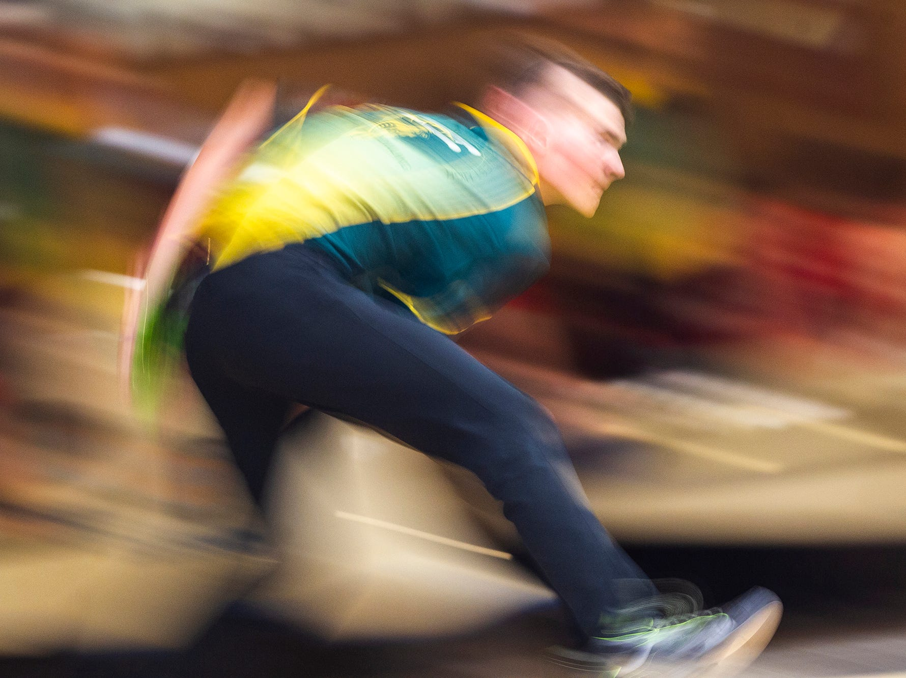 Iowa City West's Ryan Bys bowls during a cross-town bowling rivalry game on Tuesday, Nov. 20, 2018, at Colonial Lanes in Iowa City.