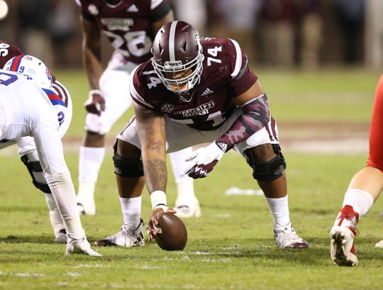 Mississippi State senior center Elgton Jenkins has been named winner of the  sixth annual Entergy/Kent Hull Trophy