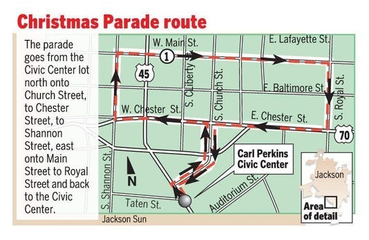 Christmas Parade Route Map 12 3 18