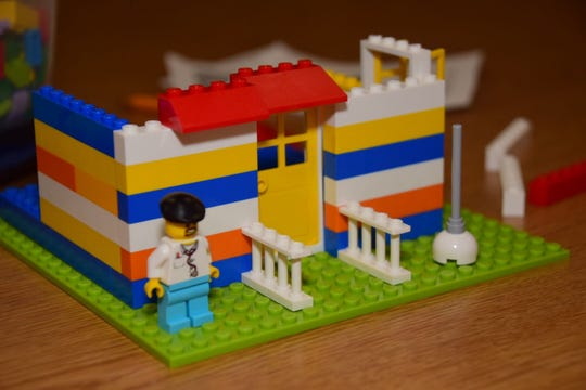 The finished product can't be taken home, but it will be on display at the Karns Branch Library for a month at the LEGO Club held at Karns Branch Library Saturday, Nov. 17.