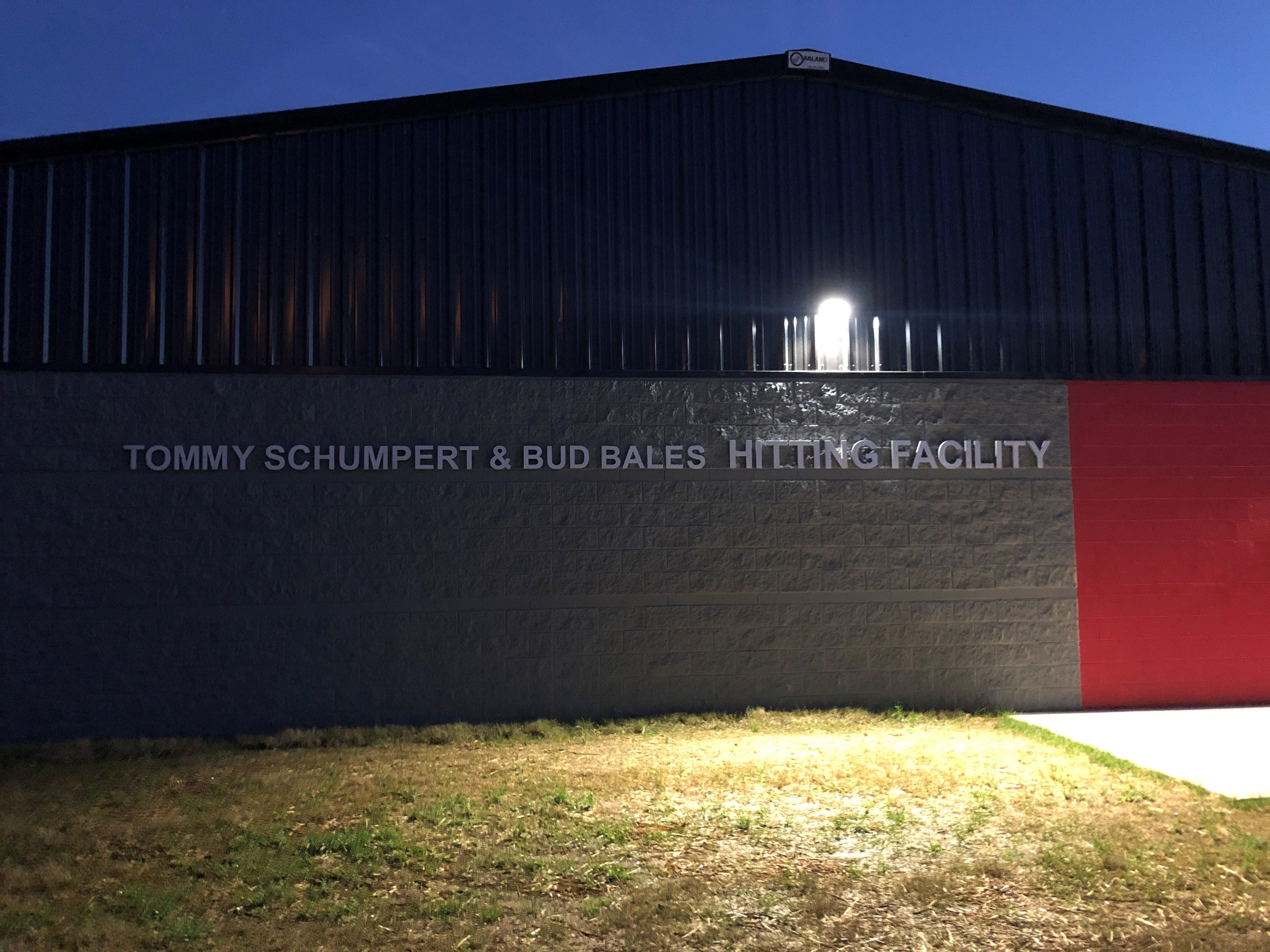 Central High School's Tommy Schumpert & Bud Bales Hitting Facility is ideal for training in the evenings and when the weather is poor.