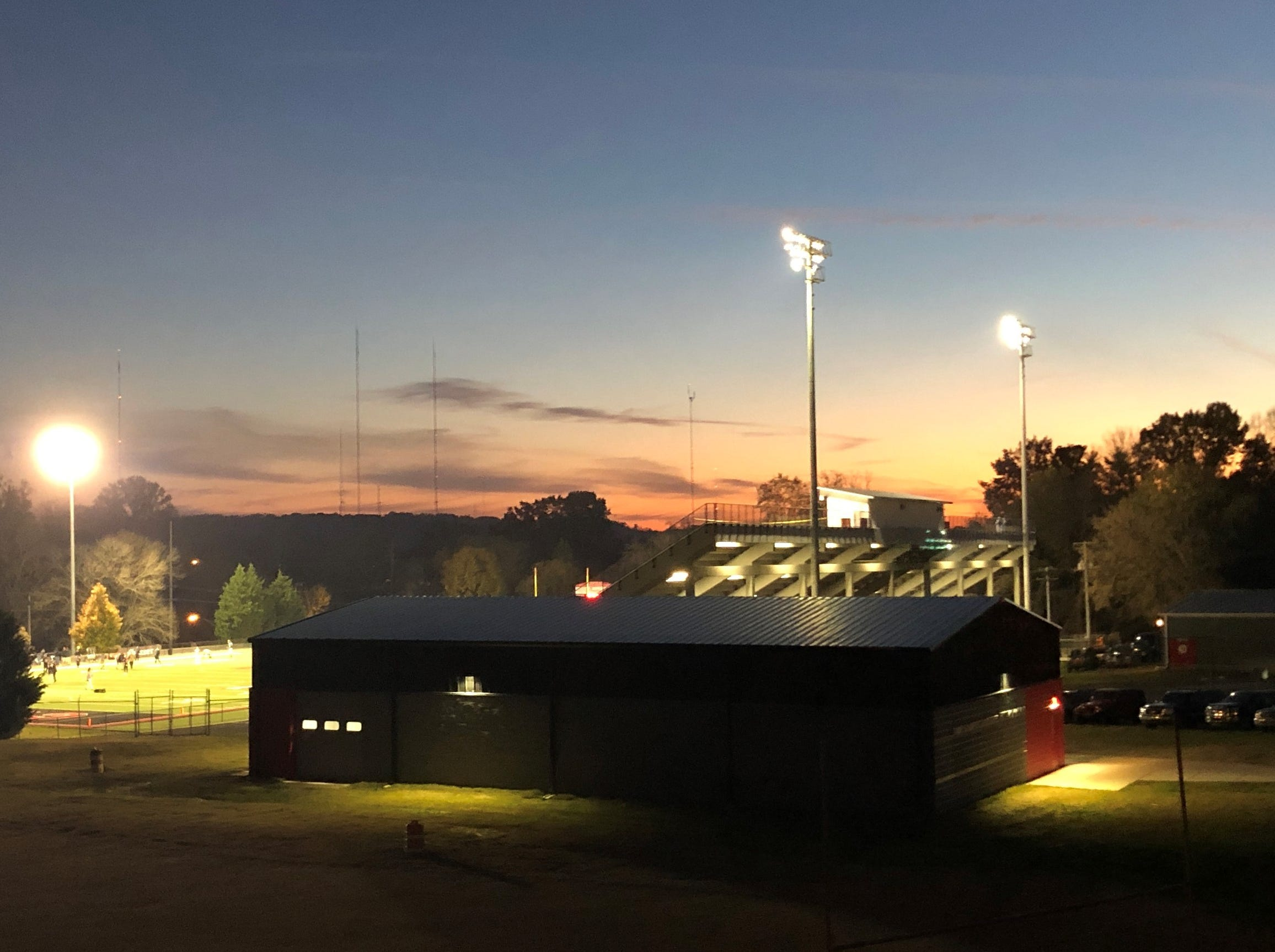 Central High School hosted an open house for the new Tommy Schumpert & Bud Bales Hitting Facility prior to the Central Bobcats football team's third playoff game on Nov. 16.