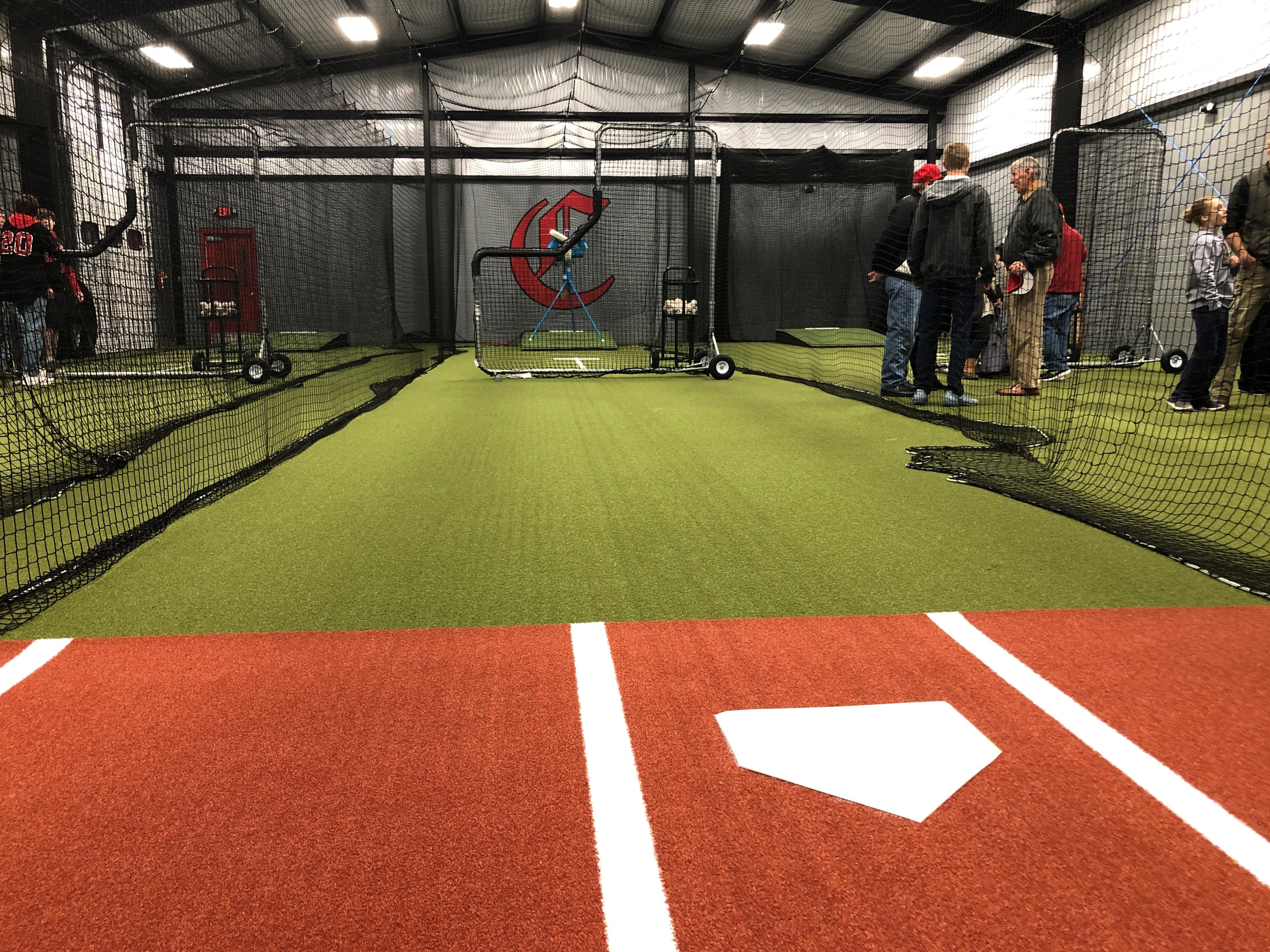 Central High School's Hitting Facility features three pitchers' mounds.