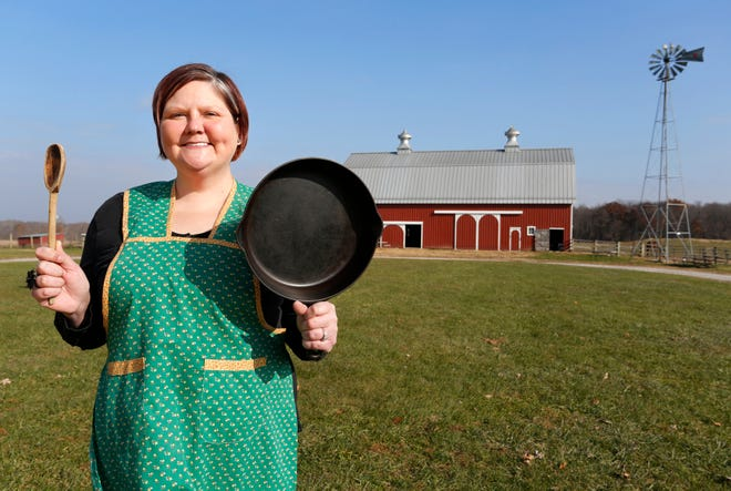 Lauren Reed, events and education coordinator for the Farm at Prophetstown, Wednesday, November 21, 2018, at the farm near Battle Ground.