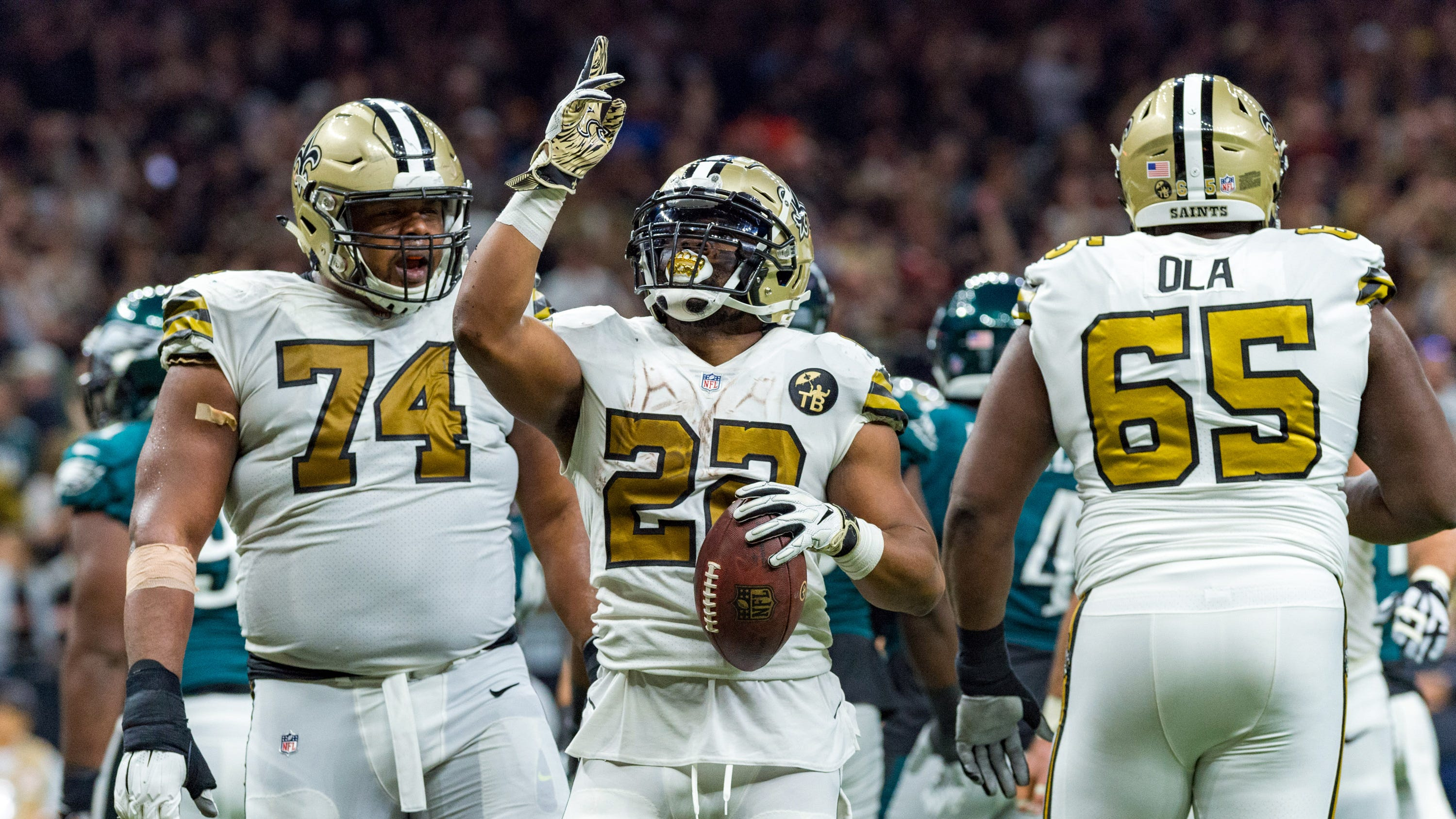 With Rams losing Sunday night, the Saints need only win 2 of remaining 3 games to clinch No. 1 seed and home field advantage in NFC Playoffs