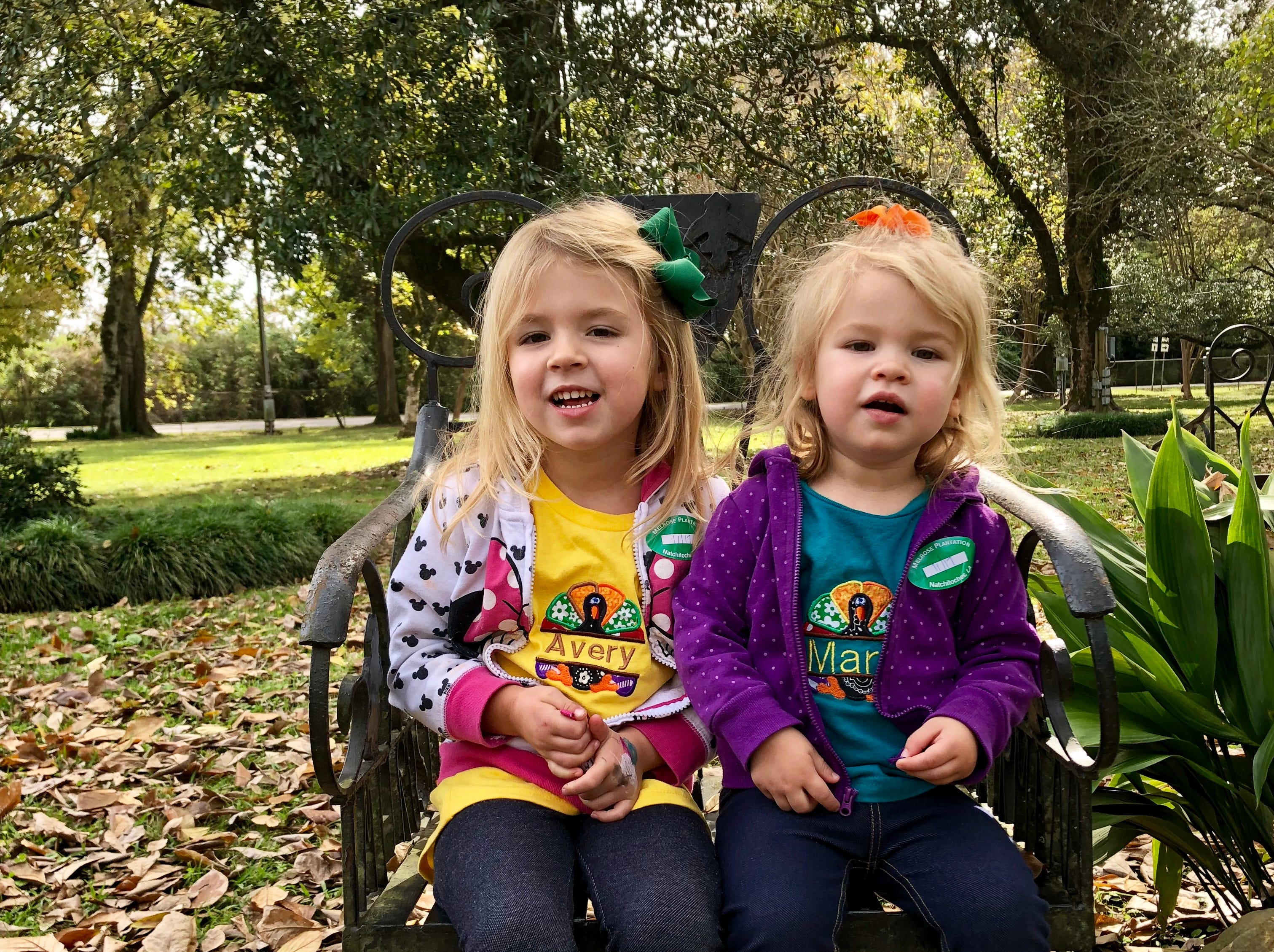 Sisters Avery and Marie Guidry tour Melrose Plantation in Cloutierville during a family trip along the Cane River Creole National Heritage Trail on Nov. 17, 2018.