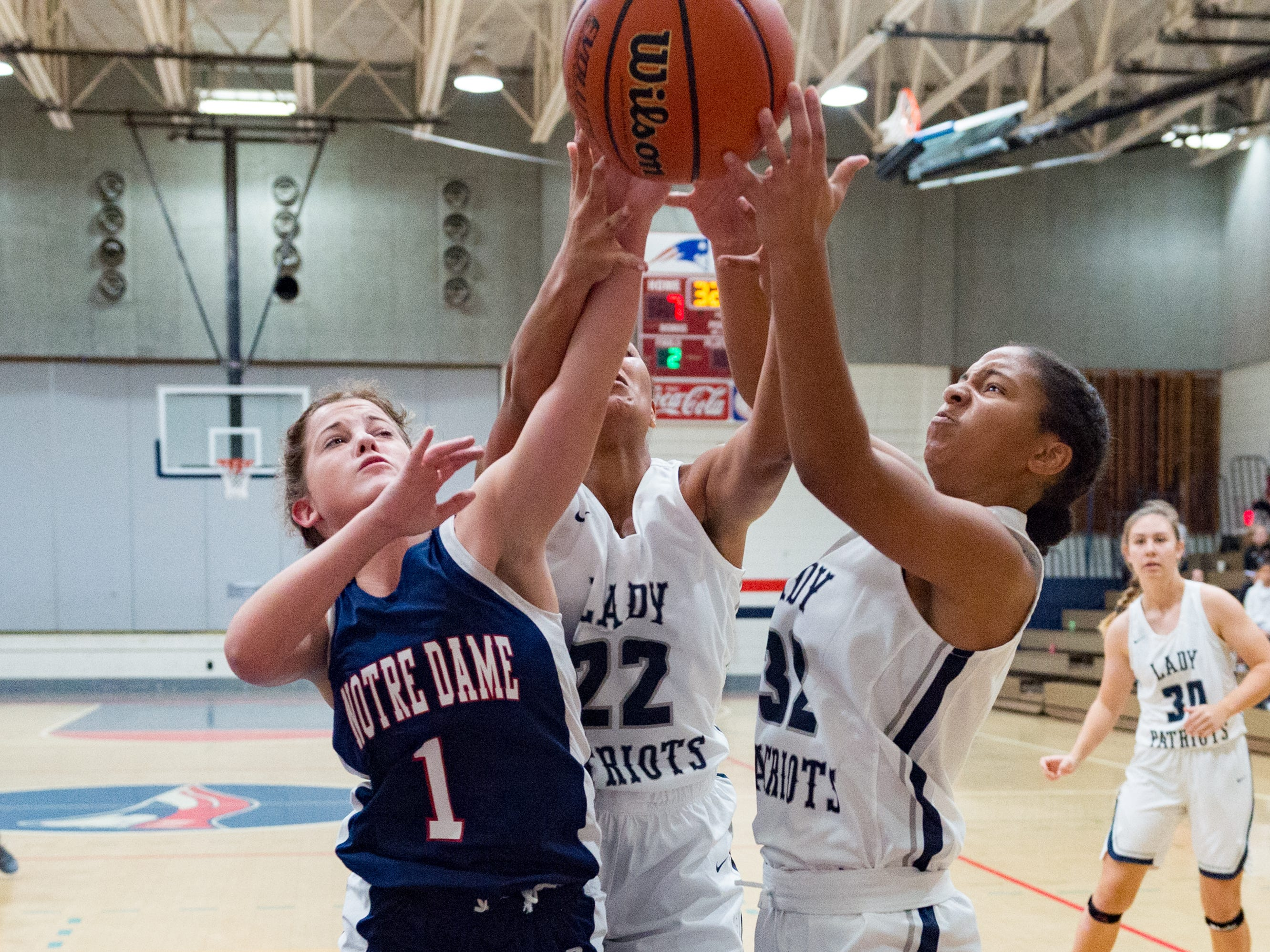 Notre Dame and North Vermillion face off in Girls Basketball Tournament at North Vermillion High School. Tuesday, Nov. 20, 2018.