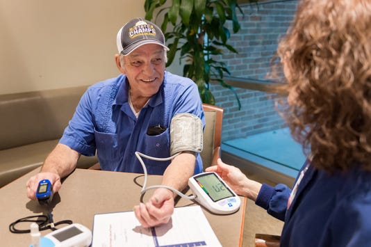 Patients that are part of HHL's Smoking Cessation Program like Mr. Clifton, get regular blood pressure checks as a part of their counseling sessions.