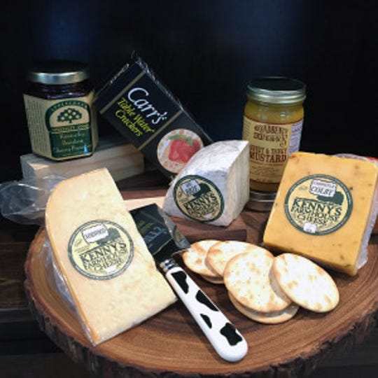 A gift package from Kenny's Farmhouse Cheese in Benton, Kentucky.