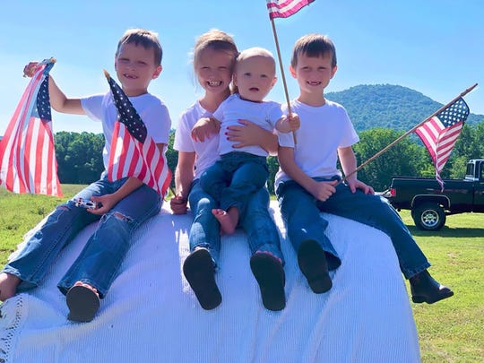 Laurel Dewitt's three grandsons, from left, Adynn, Knightly and Ryder, with her granddaughter, Bailee,  center.