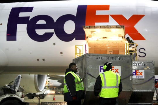 FedEx superhub at the Memphis International Airport on Tuesday, November 20, 2018.