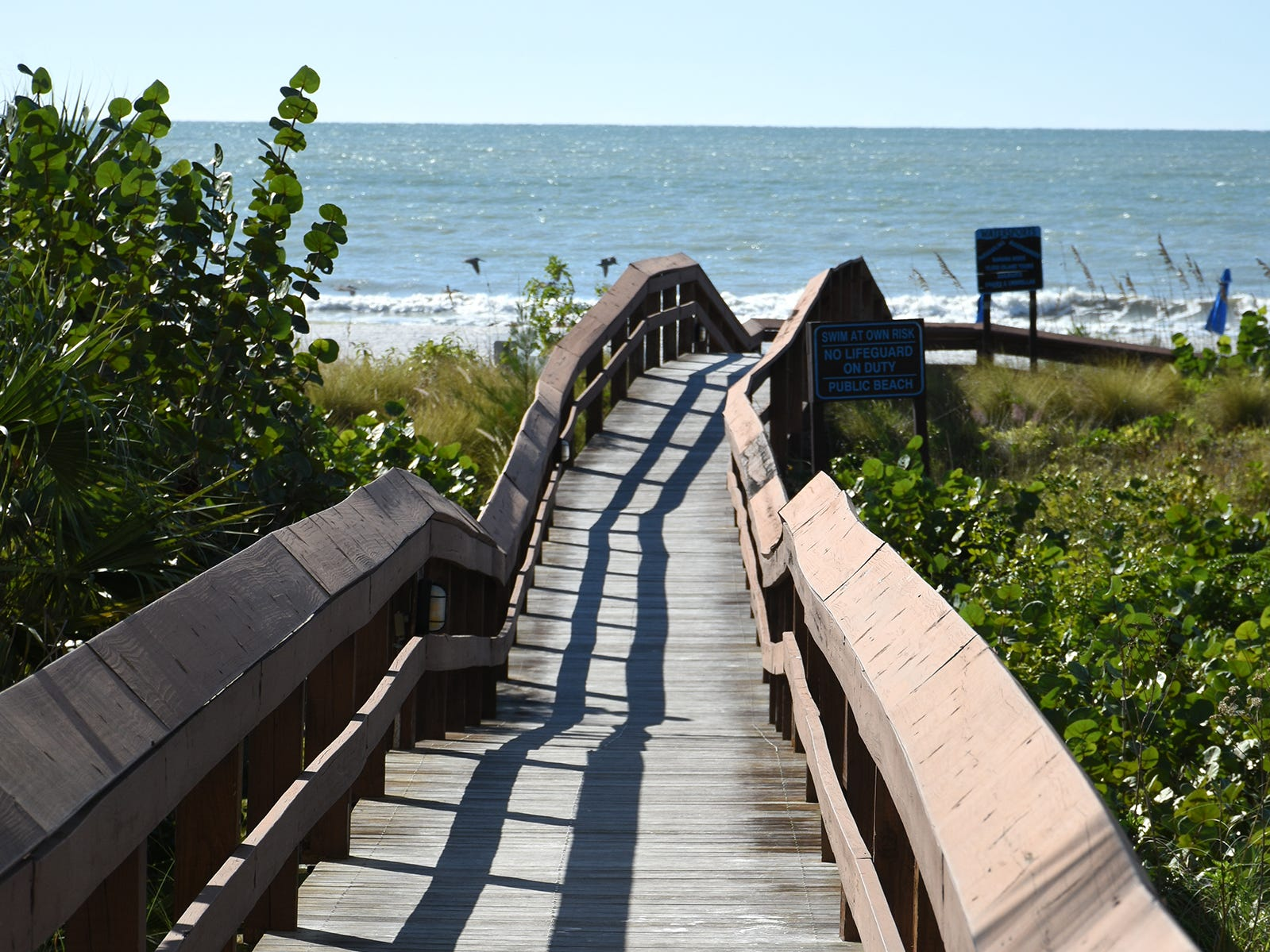 One of the Hilton Marco Island Beach Resort & Spa's boardwalks to the Gulf beach.
