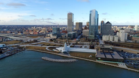 Milwaukee Downtown Drone