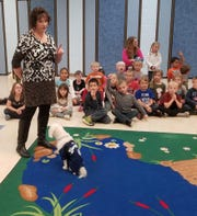Lisa Edge travels around Wisconsin with her dog Noah. They teach kids about tolerance and kindness.