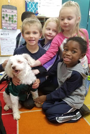 Noah the dog travels to schools around Wisconsin with his owner Lisa Edge. They teach students about kindness and tolerance.