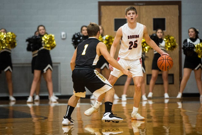 Blackford's Luke Brown brings the ball up against Cowan in the season opener. Brown said his focus this season is doing whatever it takes to win games.