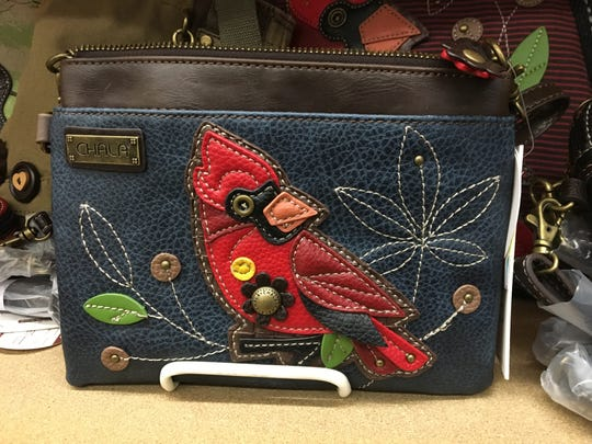 Muncie's post office at 4801 N. Wheeling Ave. sells wallets and purses, including this one of a Cardinal that's perfect for the Ball State fan.