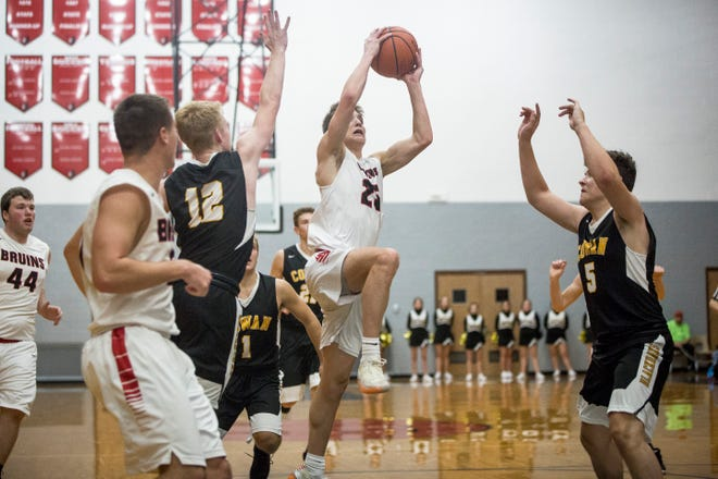 Blackford's Luke Brown, shown here going up for a layup in the season opener against Cowan, has raised his scoring average to 38.5 ppg.