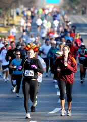 More than 1,800 people ran in the Turkey Trot 5K race around Cool Springs Galleria on Thanksgiving Day Nov. 24, 2011. The Turkey Trot and Kids Fun Run is a benefit for GraceWorks Ministries.