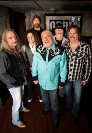From left, Chris Hicks, B.B. Borden, Tony Black, Doug Gray, Rick Willis and Marcus James Henderson of the Marshall Tucker Band before performing at the Grand Ole Opry at the Ryman Auditorium in Nashville on Nov. 20, 2018.