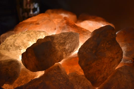 Ion lamps of Himalayan salt rocks adorn Salt Therapy Grotto & Spa in Naples. The wellness center has two caves housing salt from 13 countries, including Poland and Pakistan.