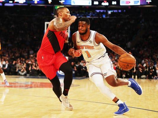 Nba Portland Trail Blazers At New York Knicks