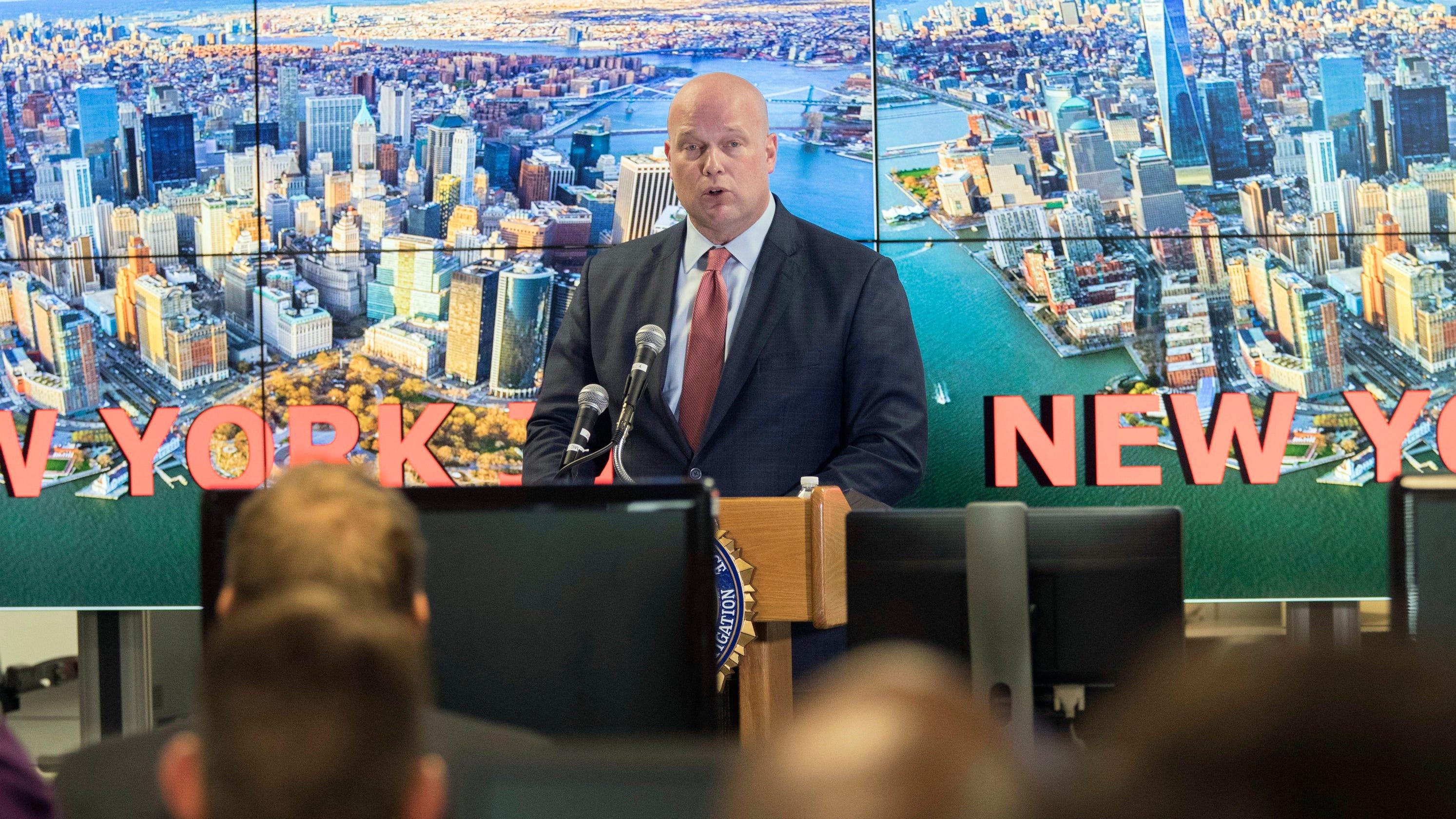 Acting U S  Attorney General erroneously says NY/NJ bomber