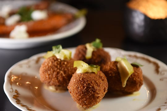 Duck croquettes at No. 12 in Ridgewood