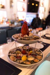 Seafood tower at Elia, one of the year's best restaurants