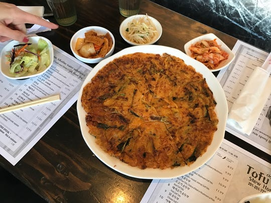 Scallion pancake at Tofu House in Ridgewood