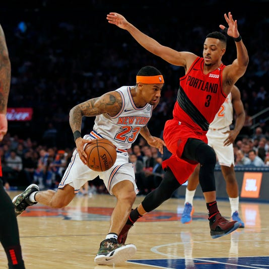 Trail Blazers Knicks Basketball 2