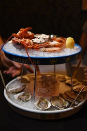 Seafood tower at  at No. 12 in Ridgewood