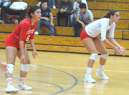 Fair Lawn senior libero Ashley Rivas (left) and junior setter Alexandra Sacchinelli were named to the All-Big North Independence Division first team.