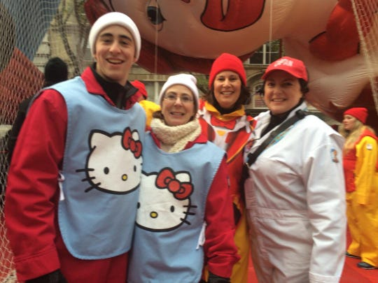 Billy Gault, Ann Gault, Lisa Freschi and Doris McLaughlin of Verona at the Macy's Thanksgiving Day Parade in 2017.