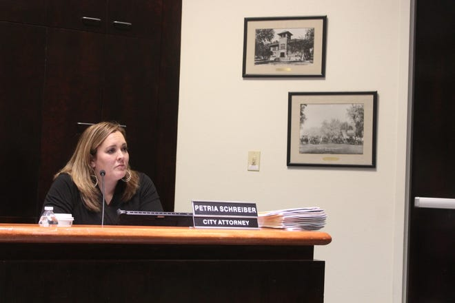 City Attorney Petria Schreiber told City Commissioners at the regular Commission meeting on Nov. 20 that being able to prosecute harassment charges in Municipal Court would save the City time and money.