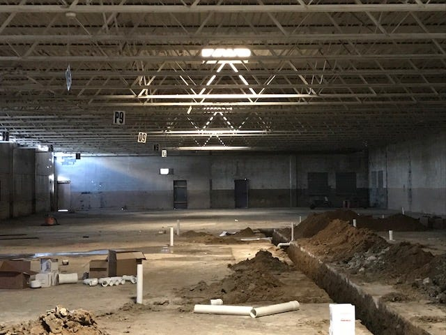 This is what the interior of the arts factory looks like now.
