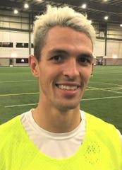 Brazilian Yuri Farkas Guglielmi leads the Madonna University men's soccer team with 23 goals this season.