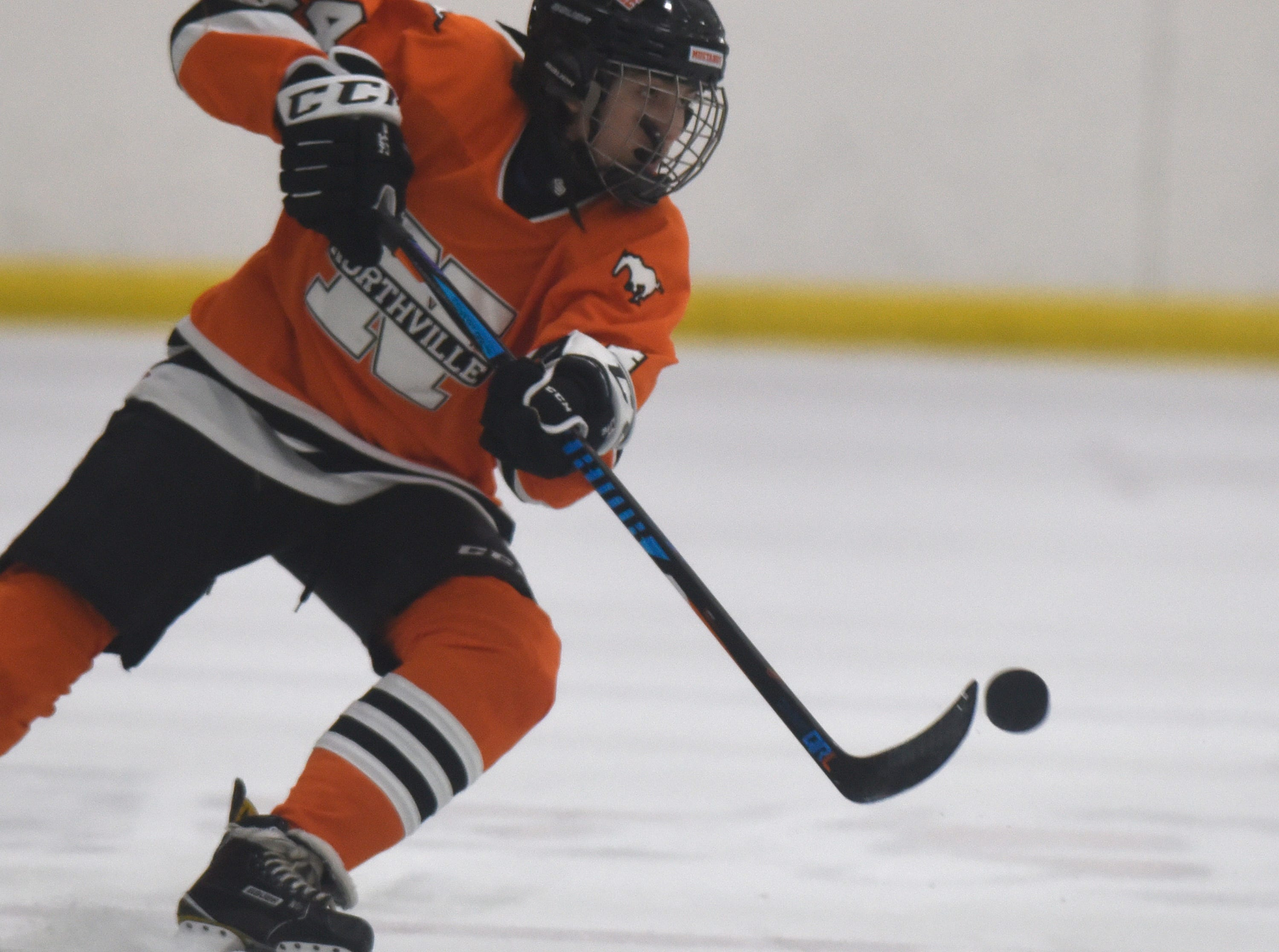 Northville forward Tariq Comai (24) during a KLAA West match up against Novi.