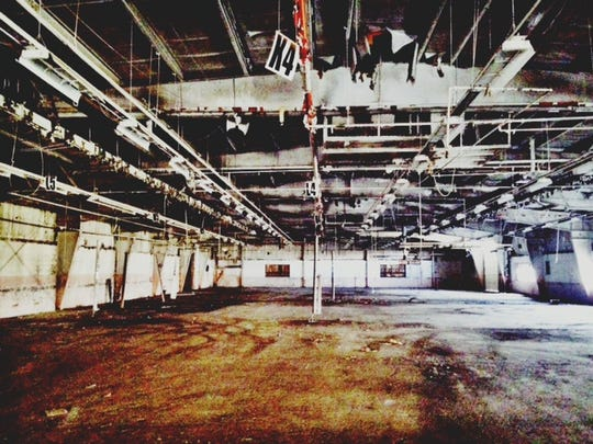 The interior of the arts factory warehouse a couple of years ago, before renovations started.
