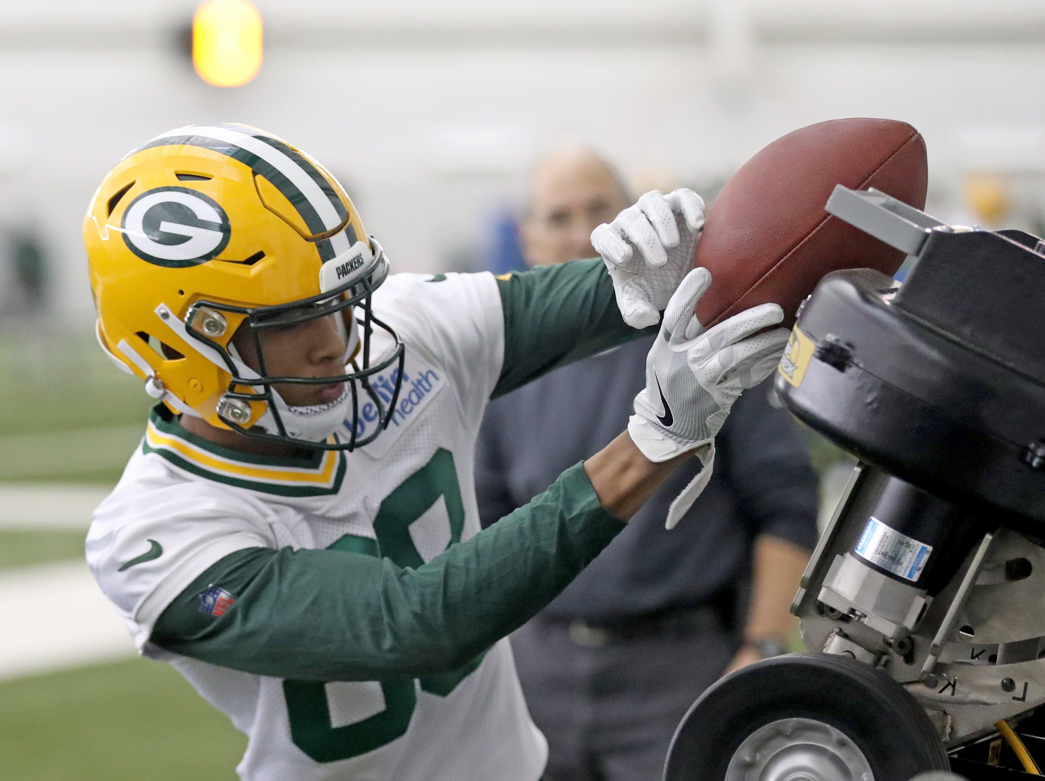 Green Bay Packers wide receiver Teo Redding during practice Wednesday, November 21, 2018 inside the Don Hutson Center in Ashwaubenon, Wis.